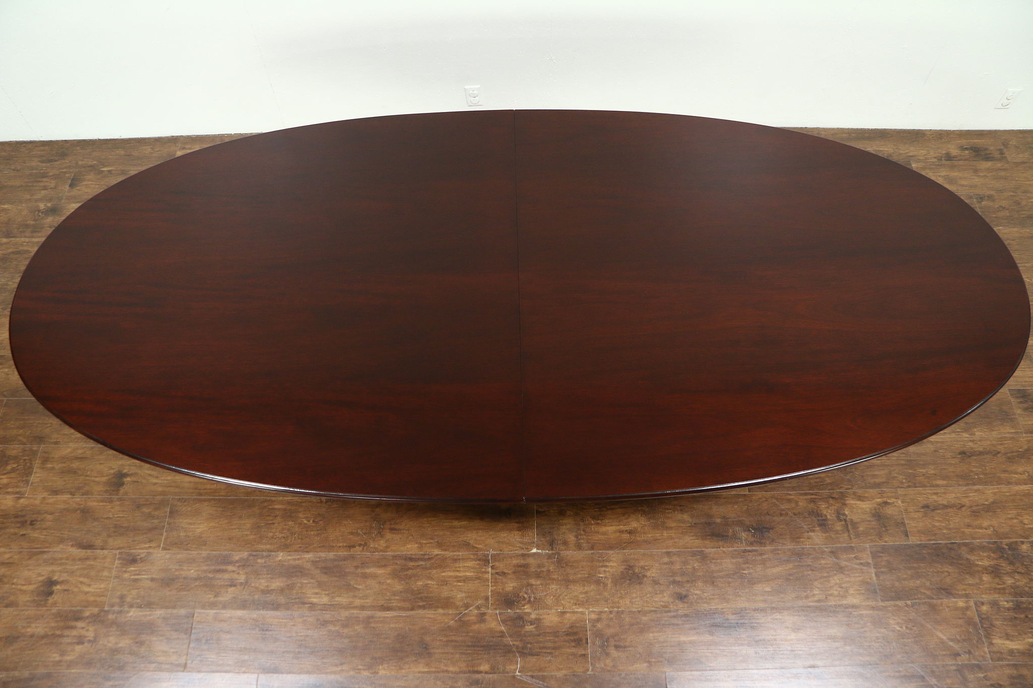 Exceptionnel Traditional Mahogany Oval 1930u0027s Vintage 10u0027 Dining Or Conference Table ...