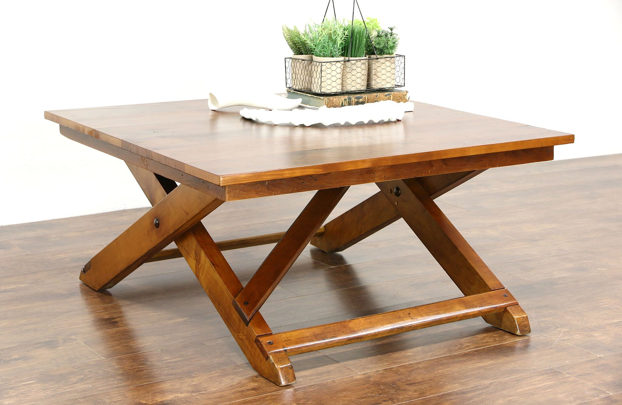 Sold Country Pine Rustic 1930 S Vintage Coffee Or Cocktail Table