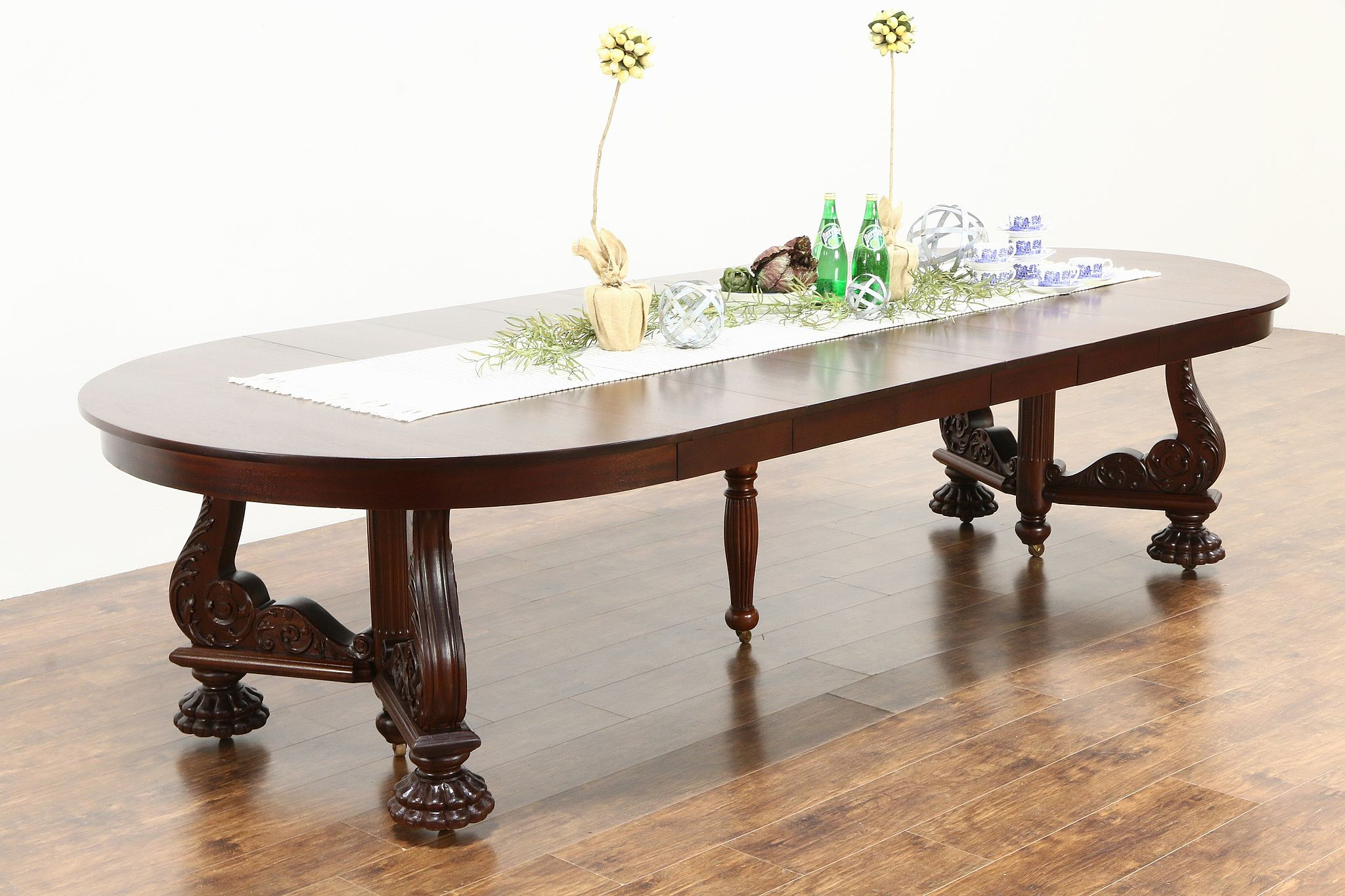 Sold Round 54 Quot Empire Mahogany Antique 1910 Dining Table