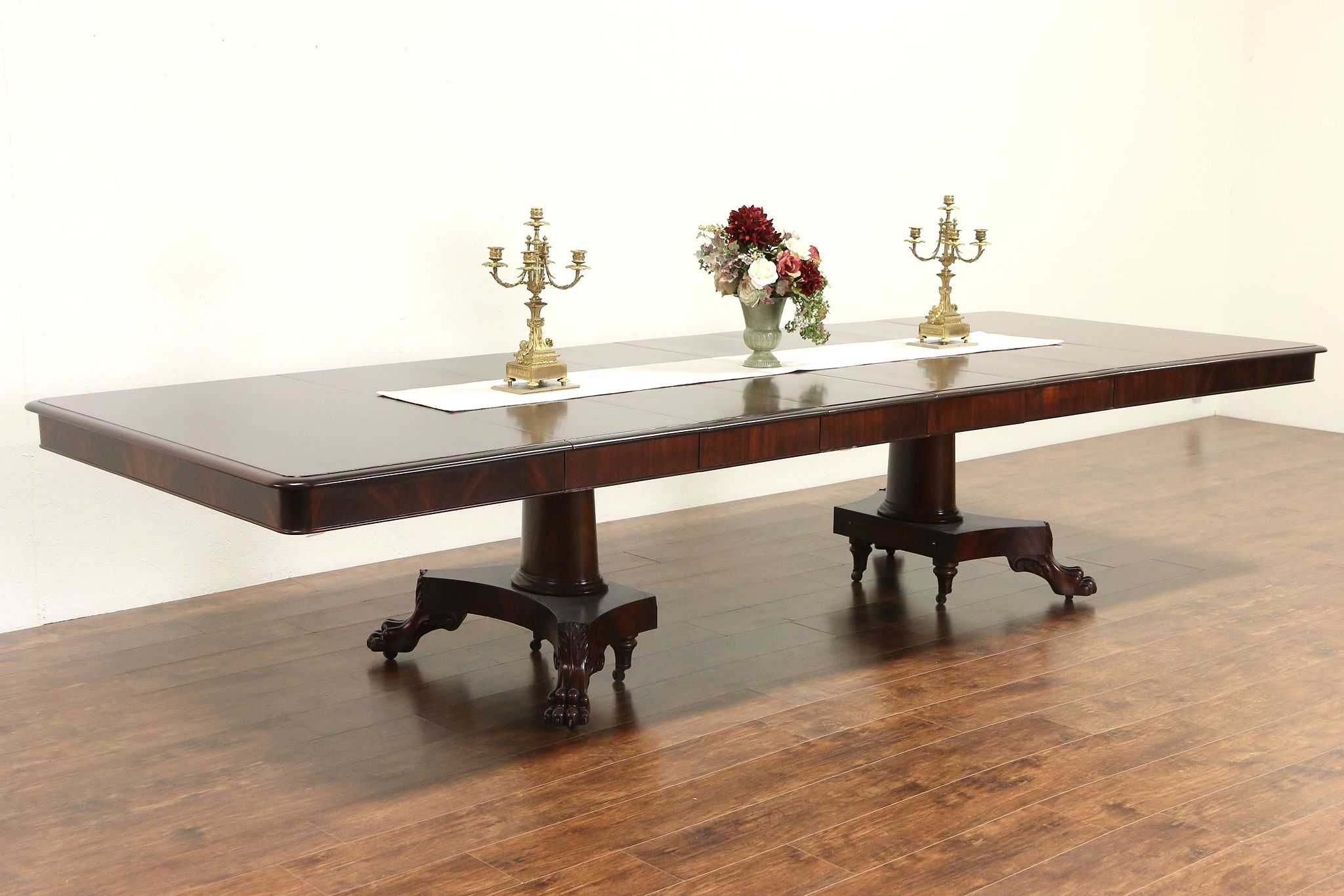 Sold Empire Square Mahogany 1900 Antique Dining Table