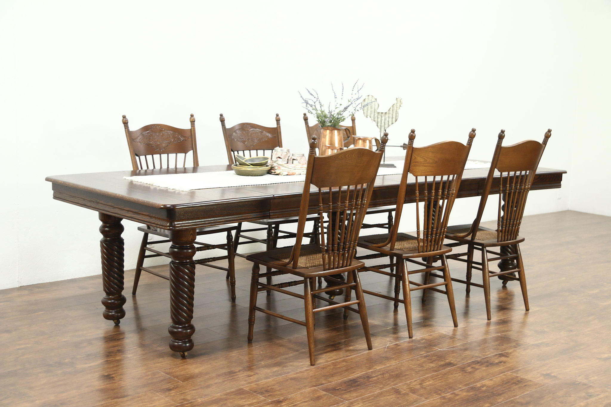 dining small table oak extending harvard chairs brown kitchen and leather solid richmond with light set
