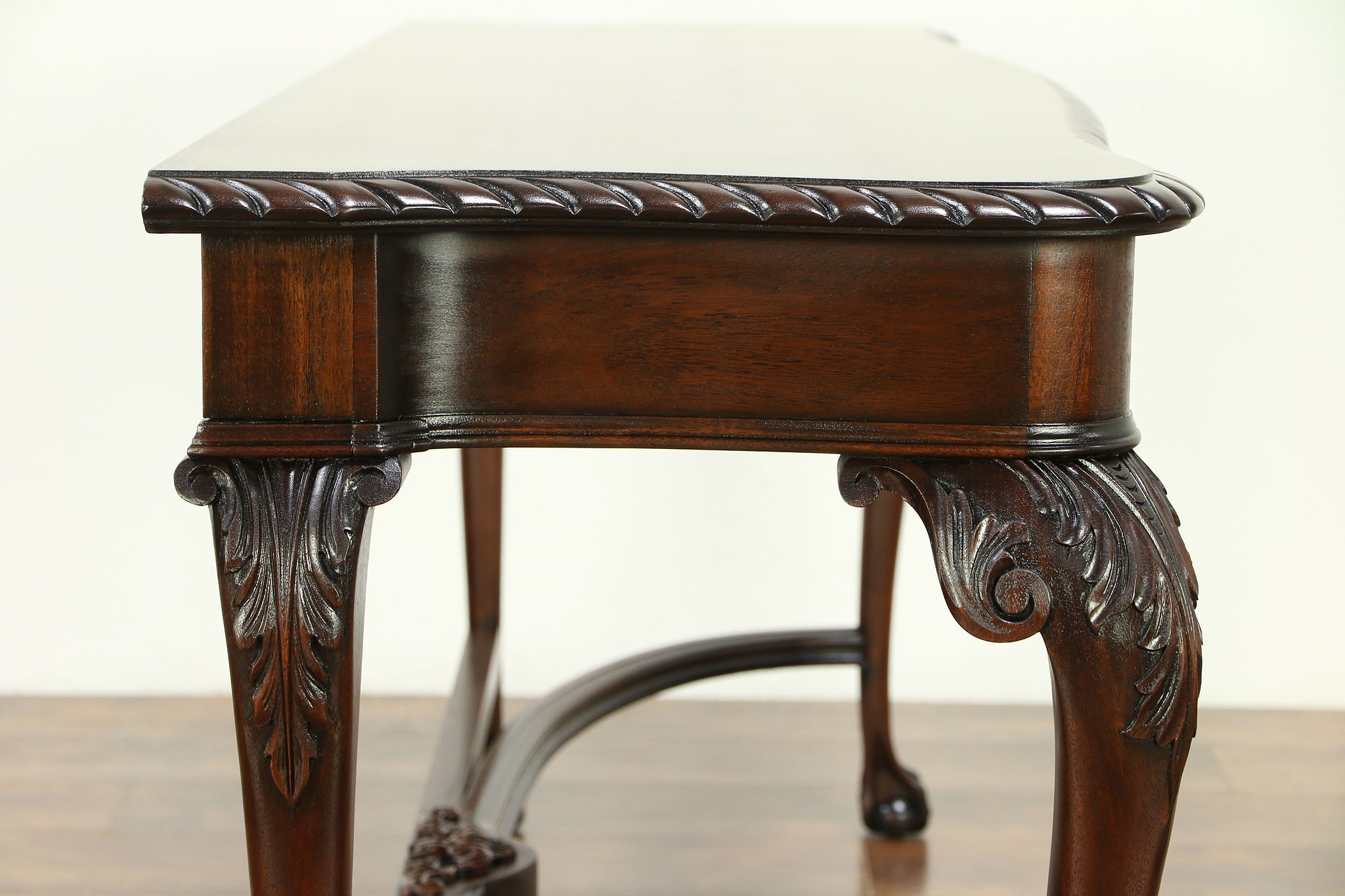Incredible Georgian Mahogany Antique Hall Console Or Sofa Table Carved Claw Feet 30675 Theyellowbook Wood Chair Design Ideas Theyellowbookinfo