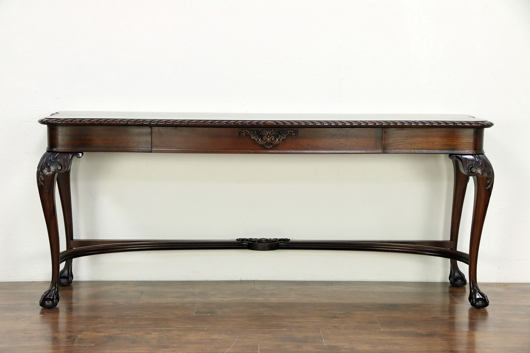 Wondrous Georgian Mahogany Antique Hall Console Or Sofa Table Carved Claw Feet 30675 Theyellowbook Wood Chair Design Ideas Theyellowbookinfo