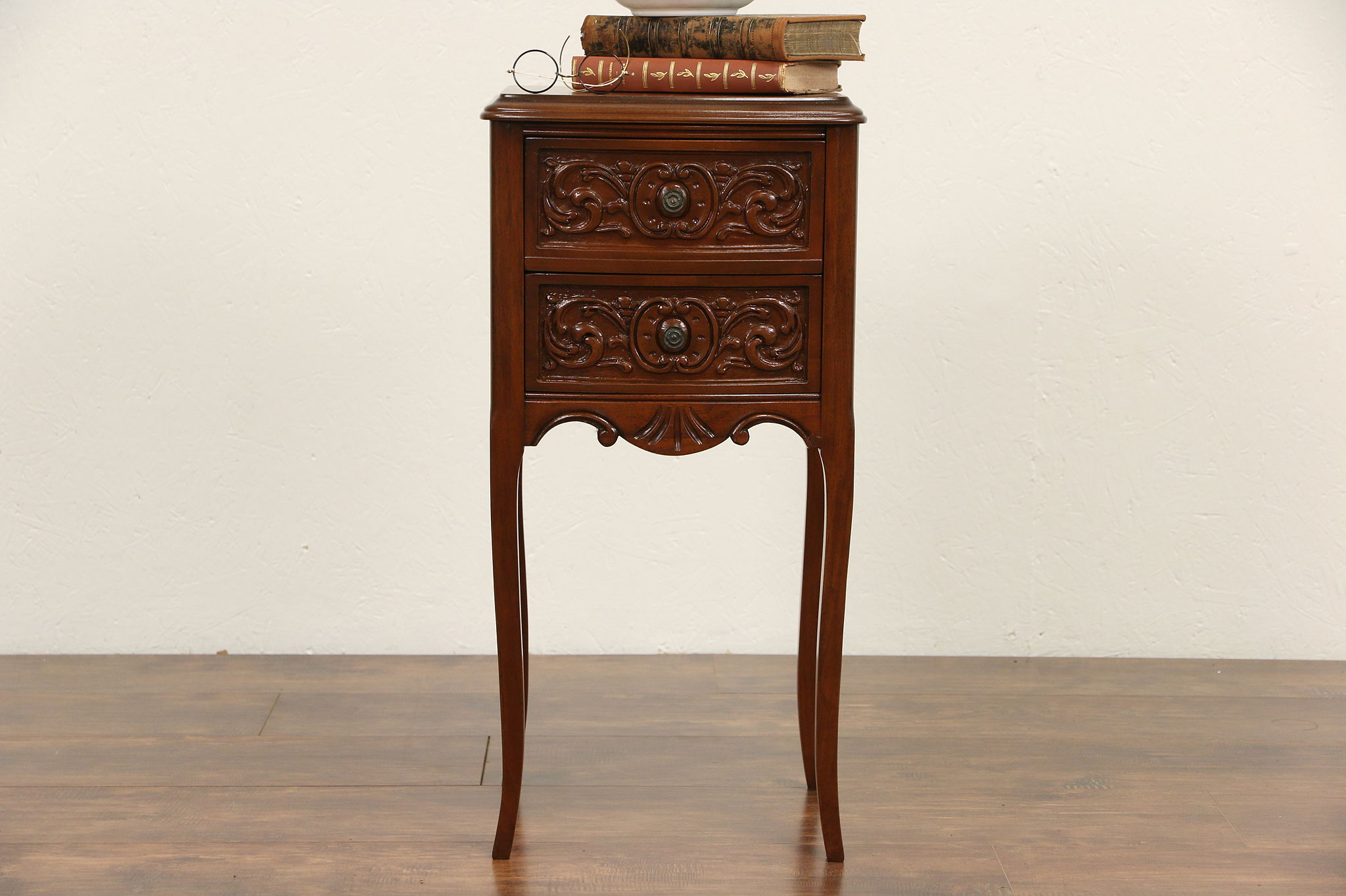 antique end table styles SOLD   French Style 1930's Vintage Carved Nightstand or End Table  antique end table styles