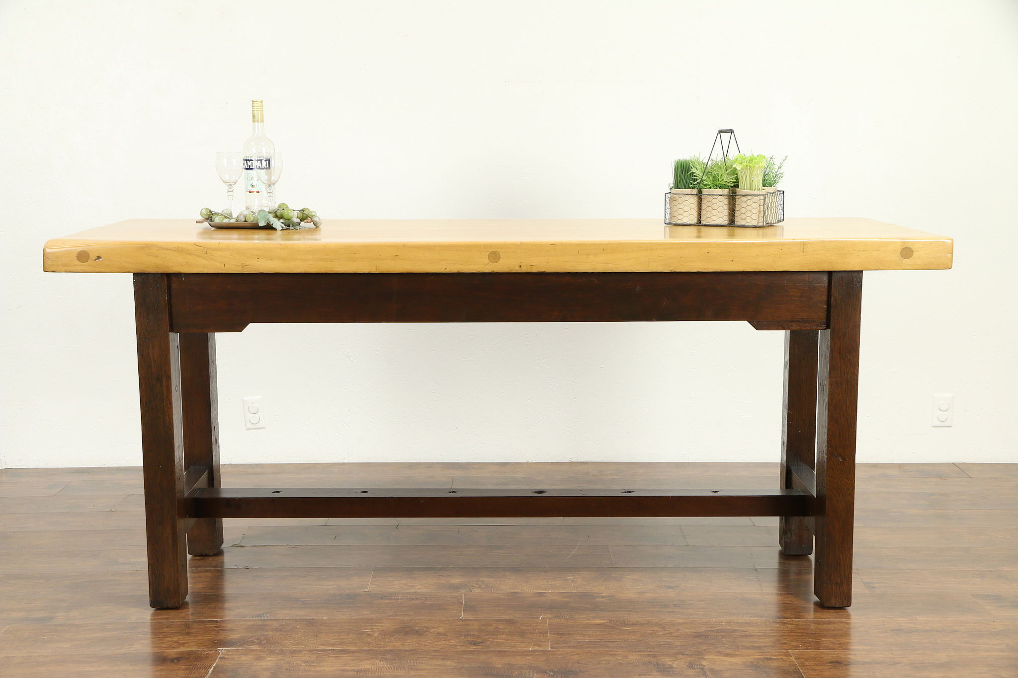 Butcher Block Kitchen Island Counter Or Stool Height Dining Table 30745 Photo
