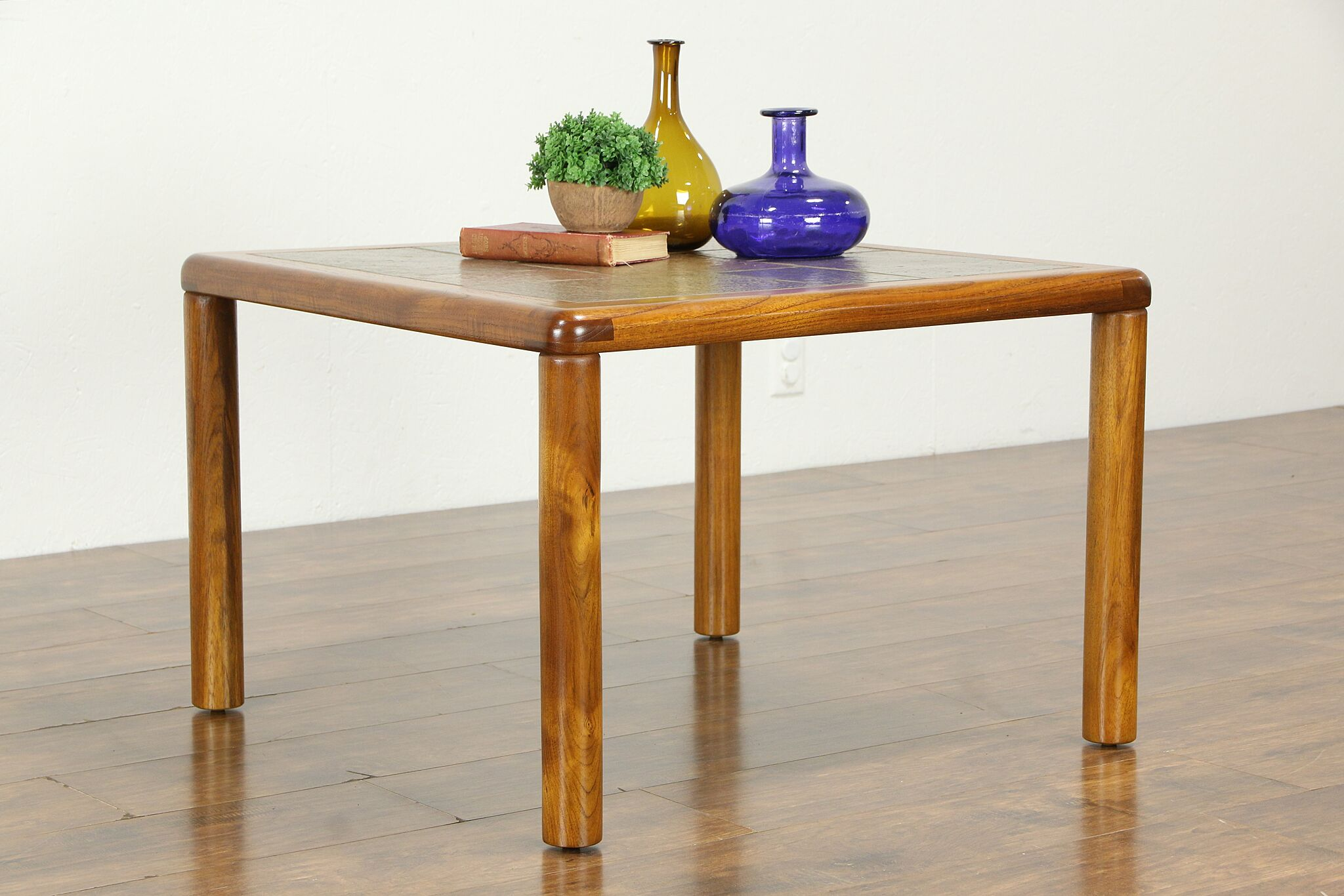 Midcentury Modern Poulsen Haslev Danish Vintage Teak Slate Coffee Table 34305 Harp Gallery Antiques Furniture