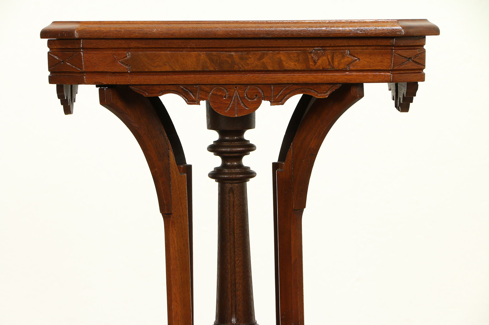 Victorian Antique 1860 Carved Walnut