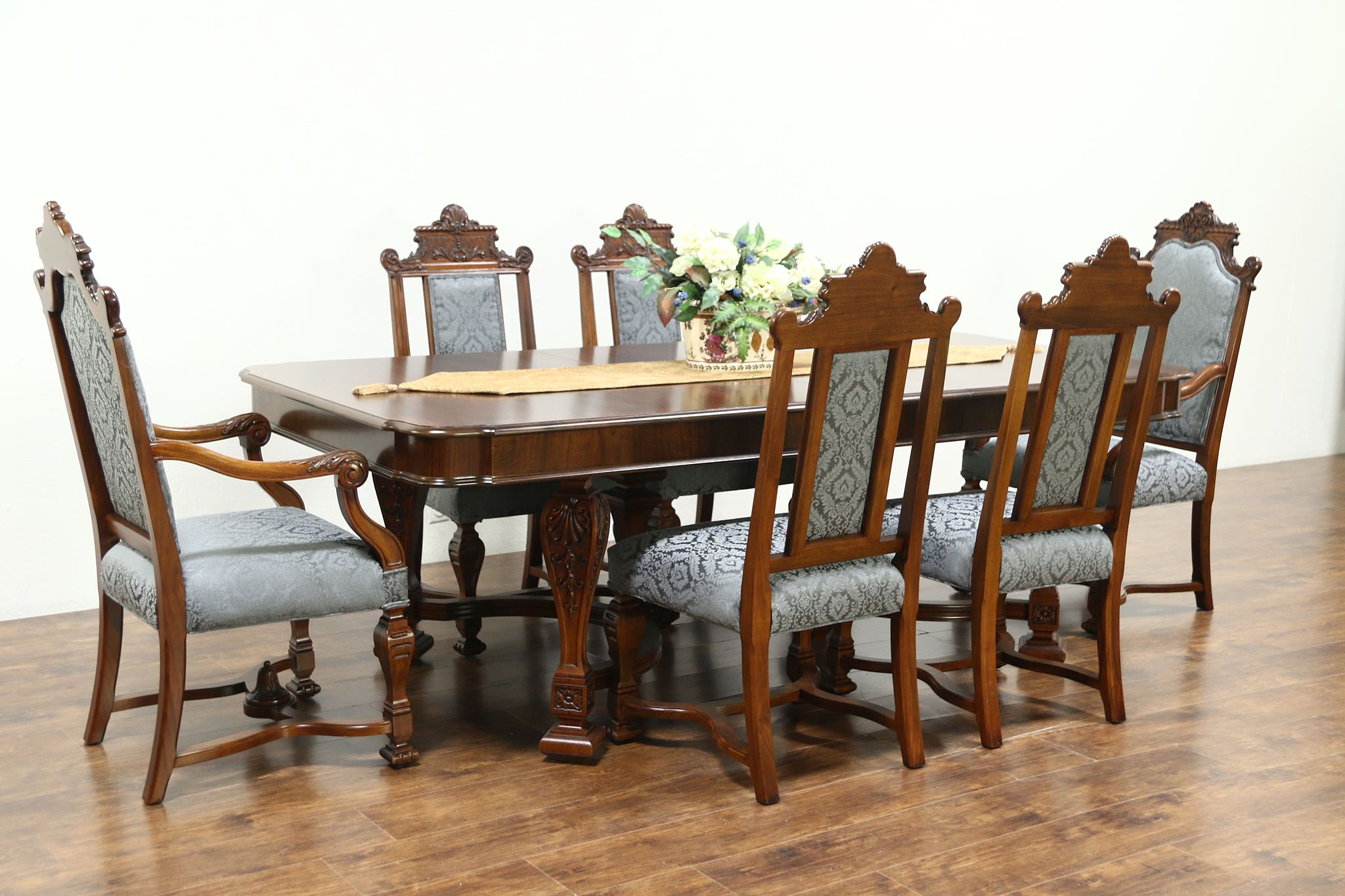 Renaissance Antique Dining Set Table, Antique Dining Room Table