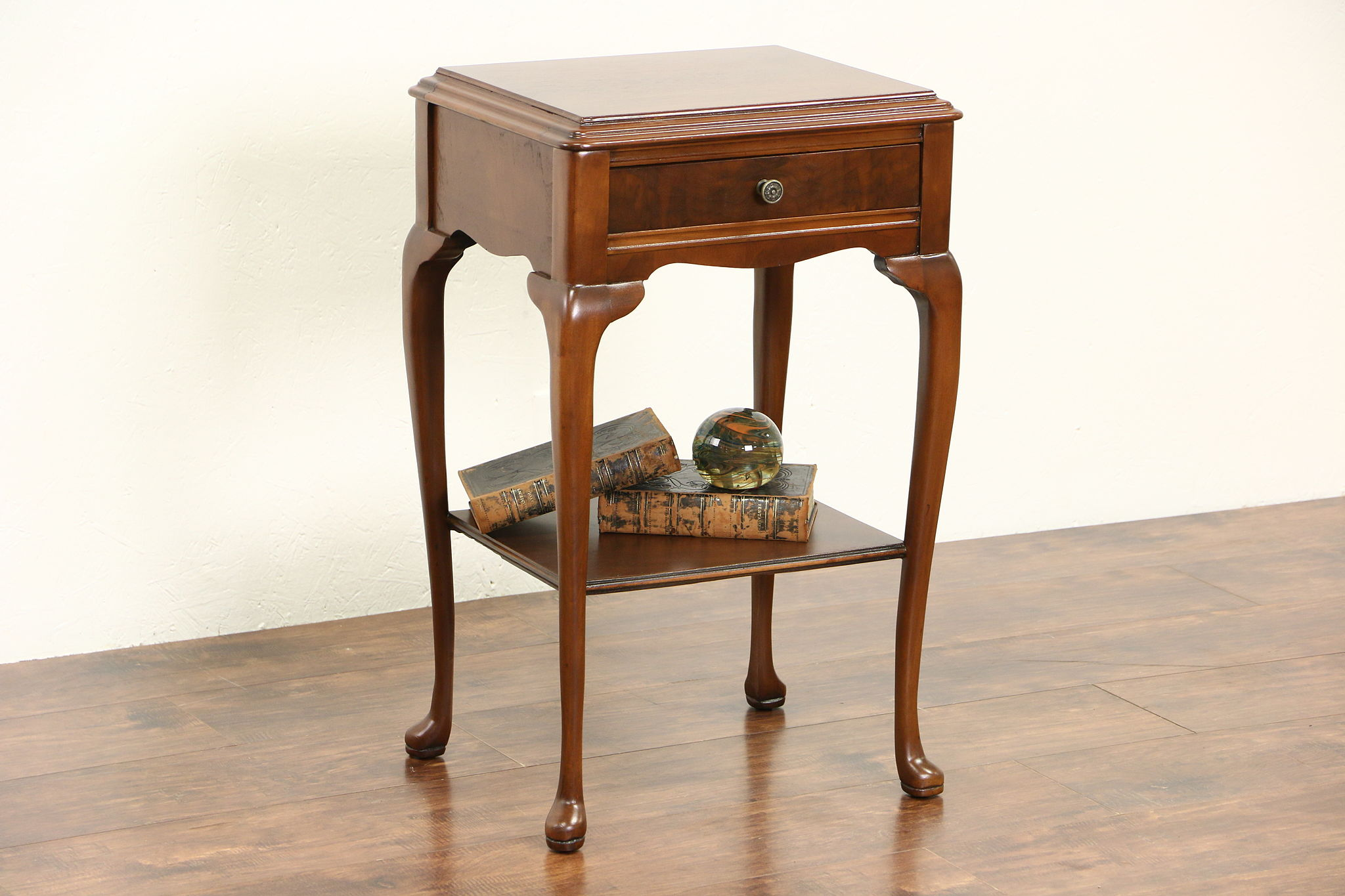 Traditional 1940 S Vintage Walnut Nightstand