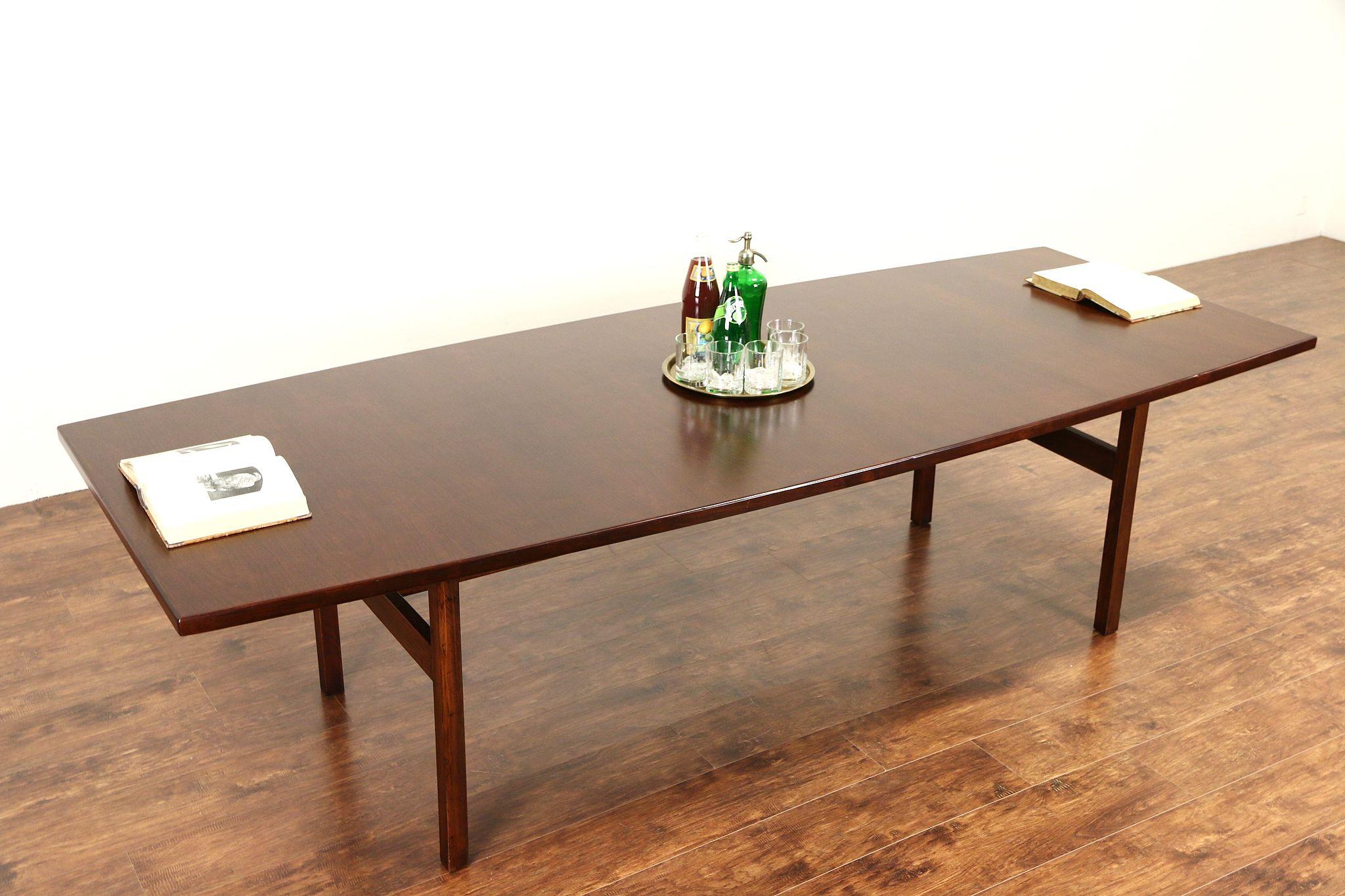 Jens Risom Signed 1960 Vintage Midcentury Modern 9 Dining Or Conference Table