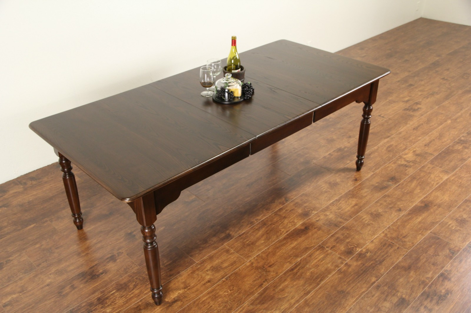 Sold Nichols And Stone Signed Oak Vintage Dining Table