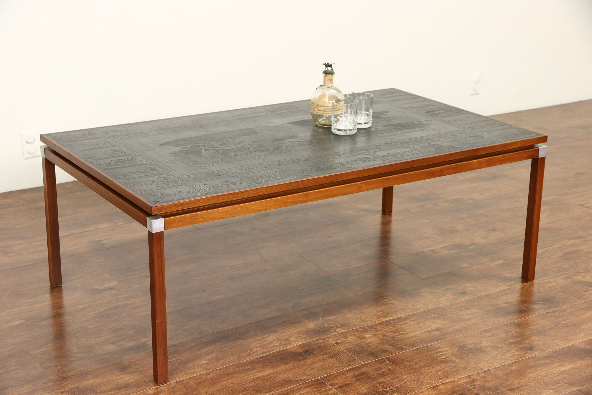 SOLD Midcentury Danish Modern 1960 Vintage Coffee Table Equine