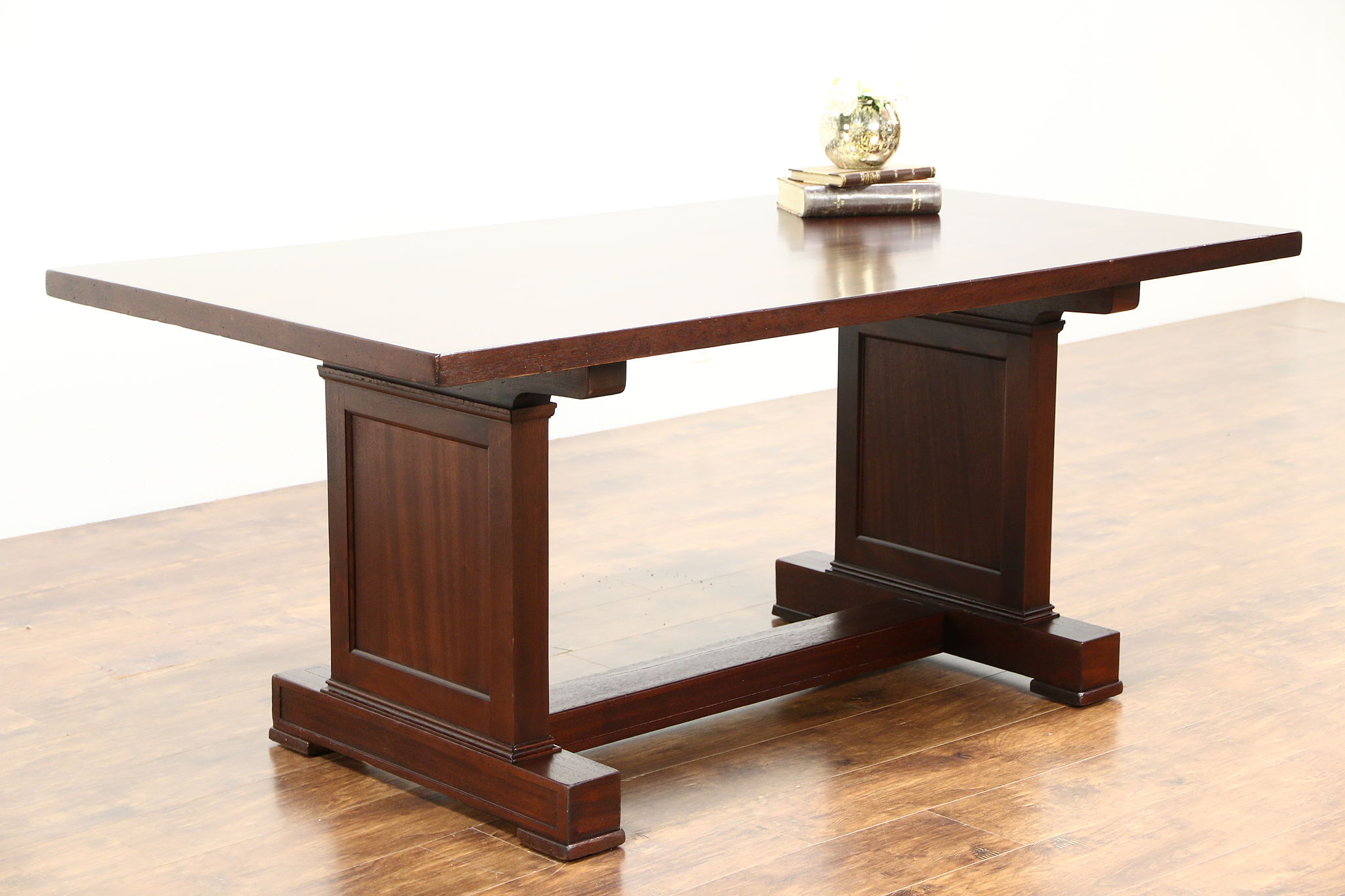 Gany Antique 1910 Library Conference Or Dining Table Writing Desk