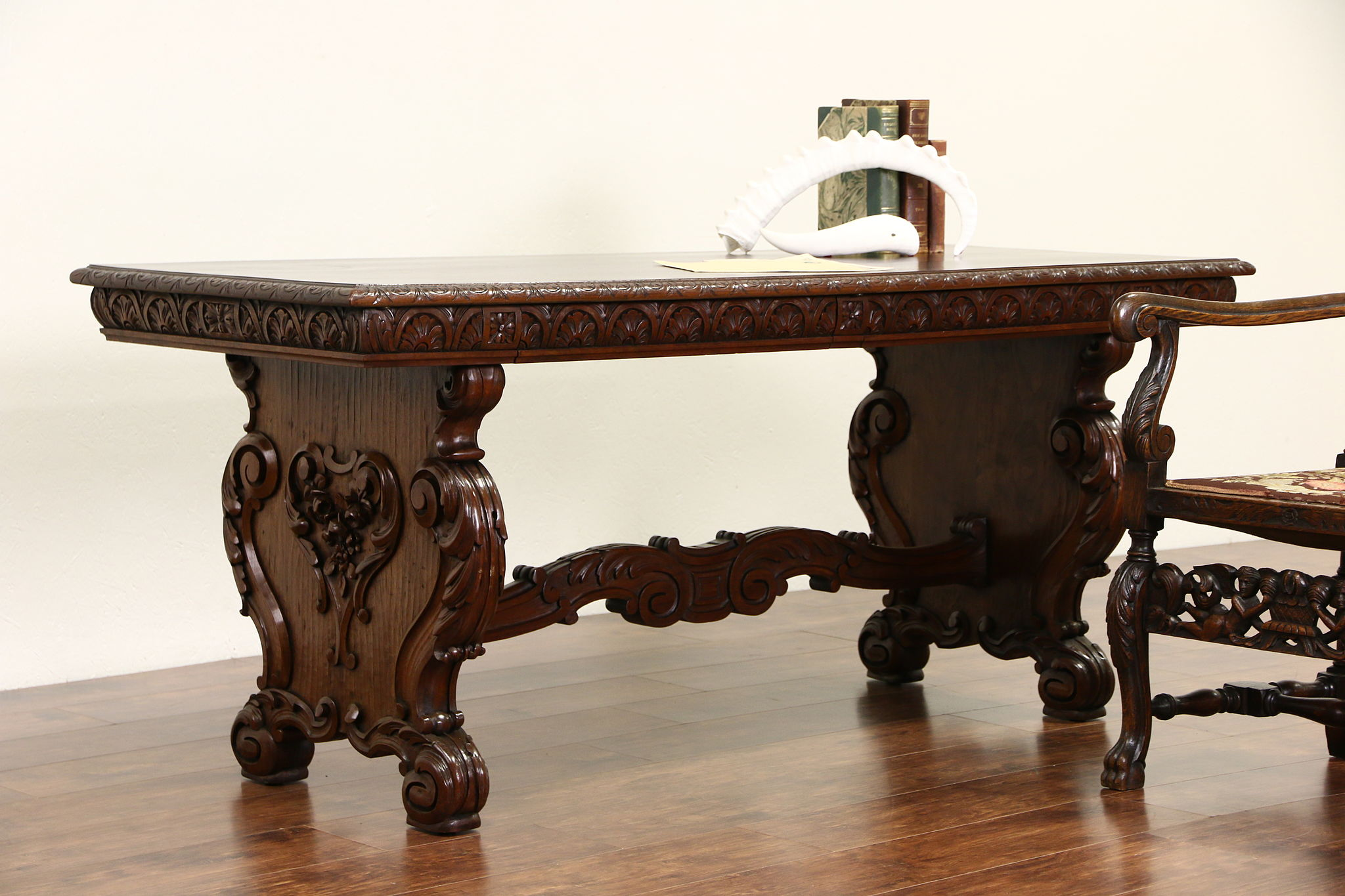 Antique Foyer Furniture : Sold italian renaissance antique foyer or library table