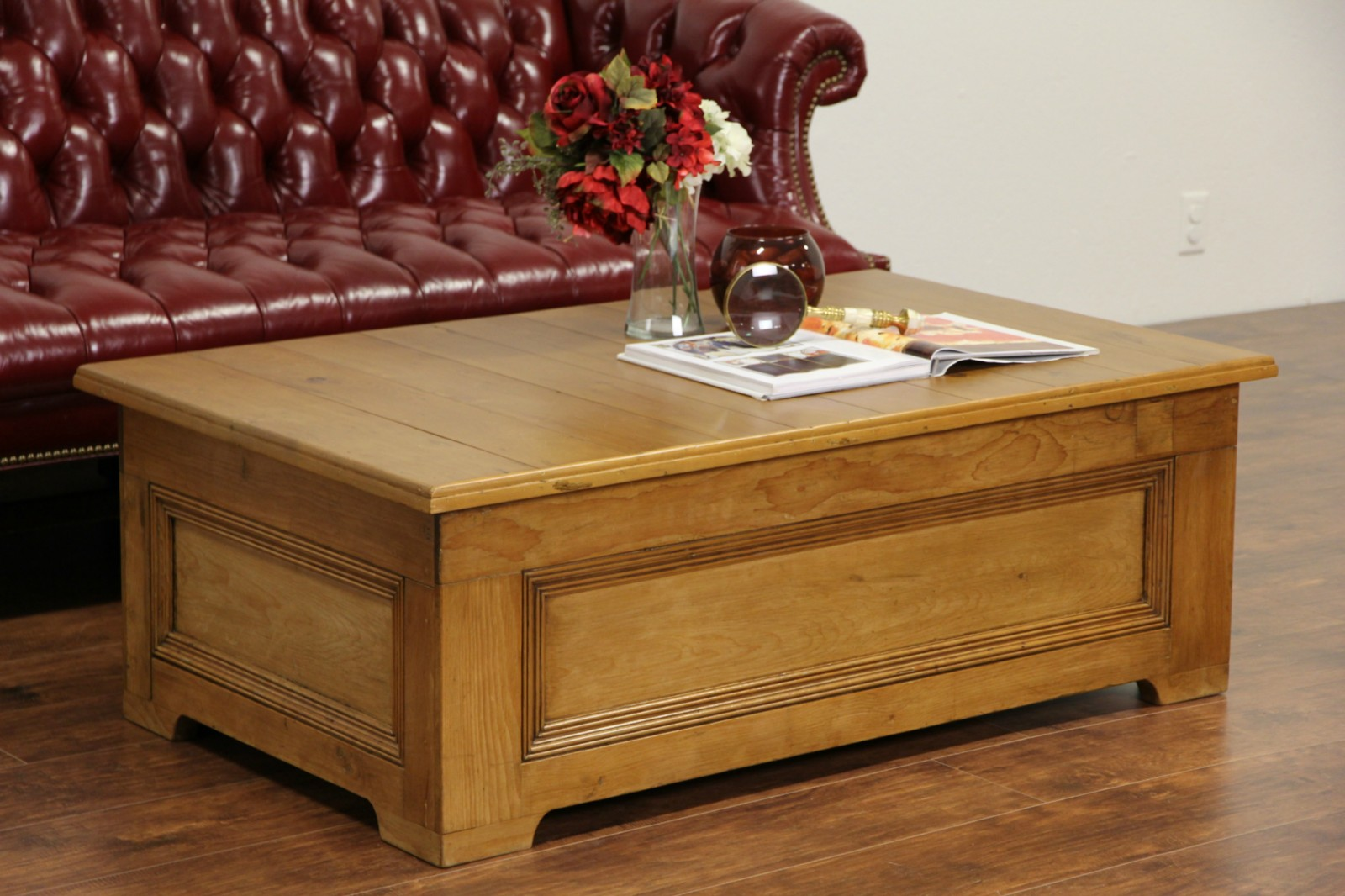 Country Pine Coffee Table With Storage Made From 1800 S Architectural Salvage