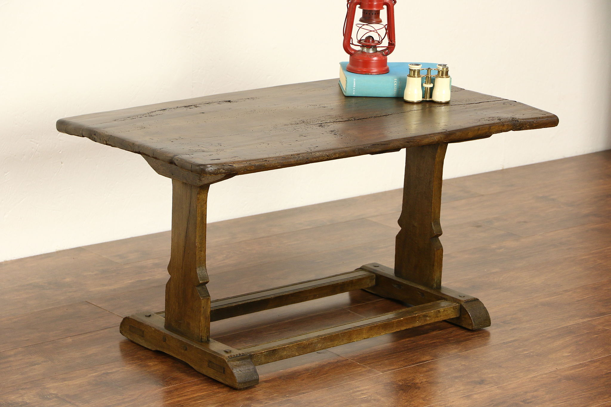 Sold oak hand hewn primitive coffee table from 1700s antique photo 1 oak hand hewn primitive coffee table geotapseo Image collections