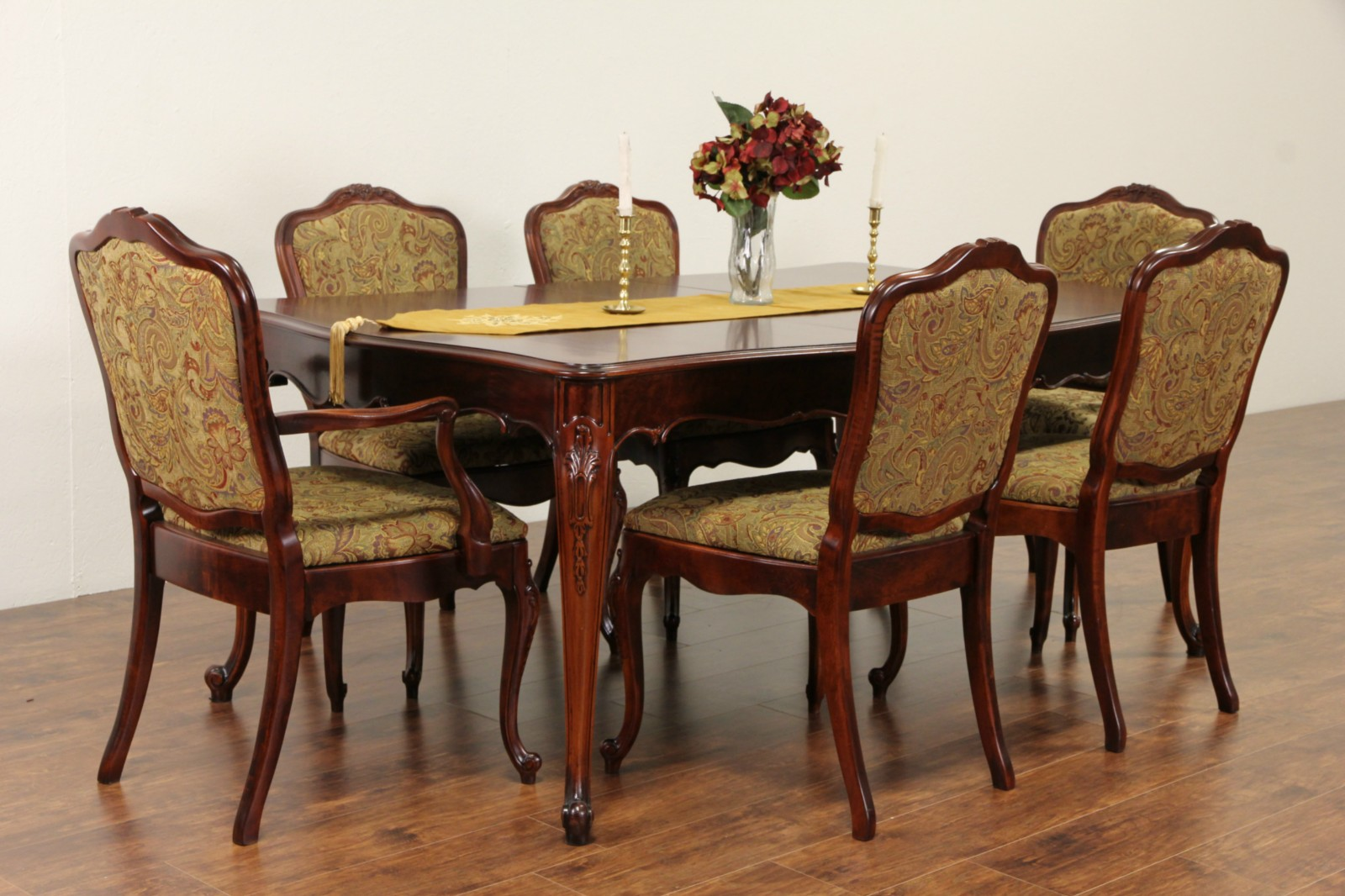 SOLD Dining Set French Style Vintage Table Leaves - Dining table with 3 leaves