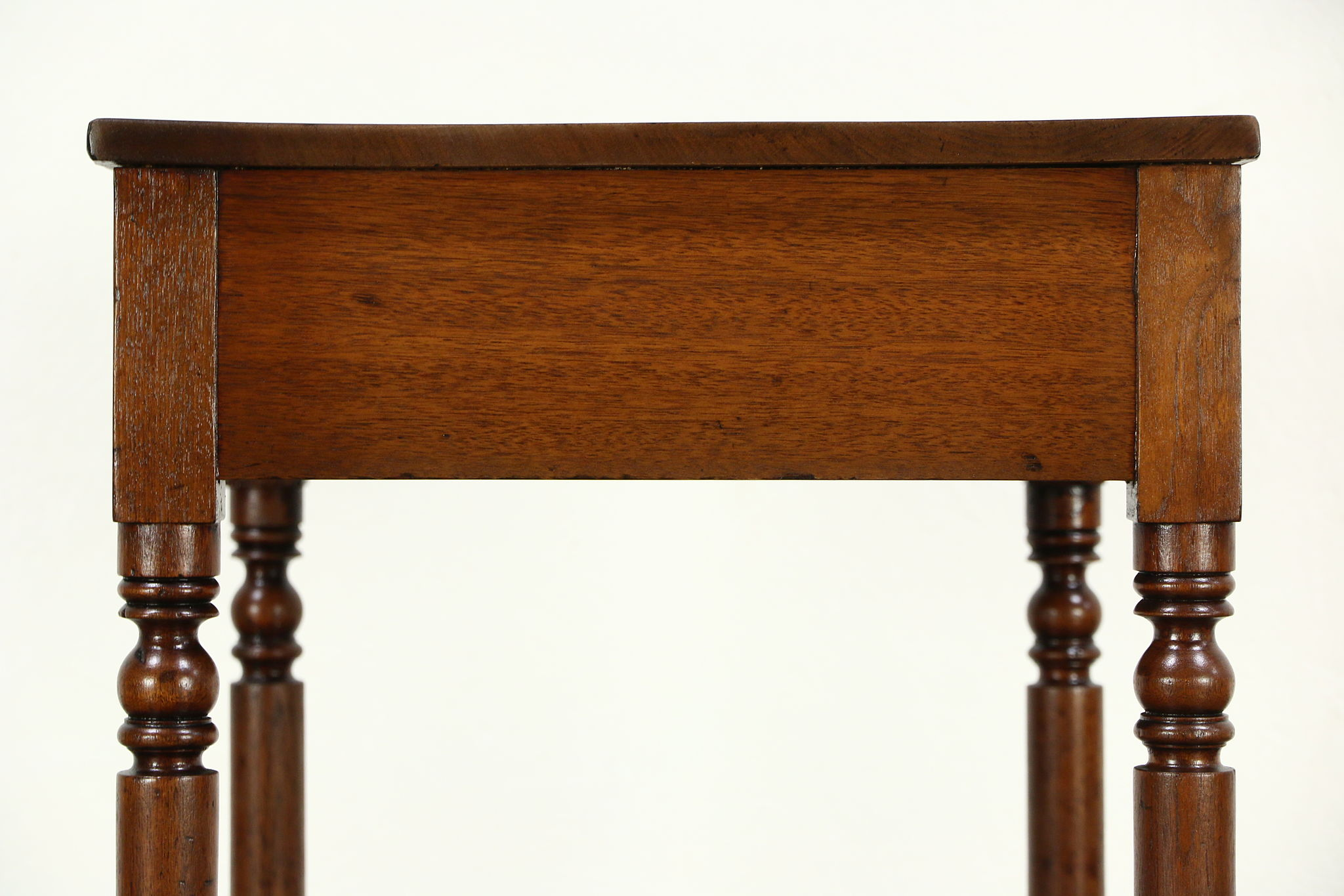 Country Sheraton 1830's Antique Walnut End Or Lamp