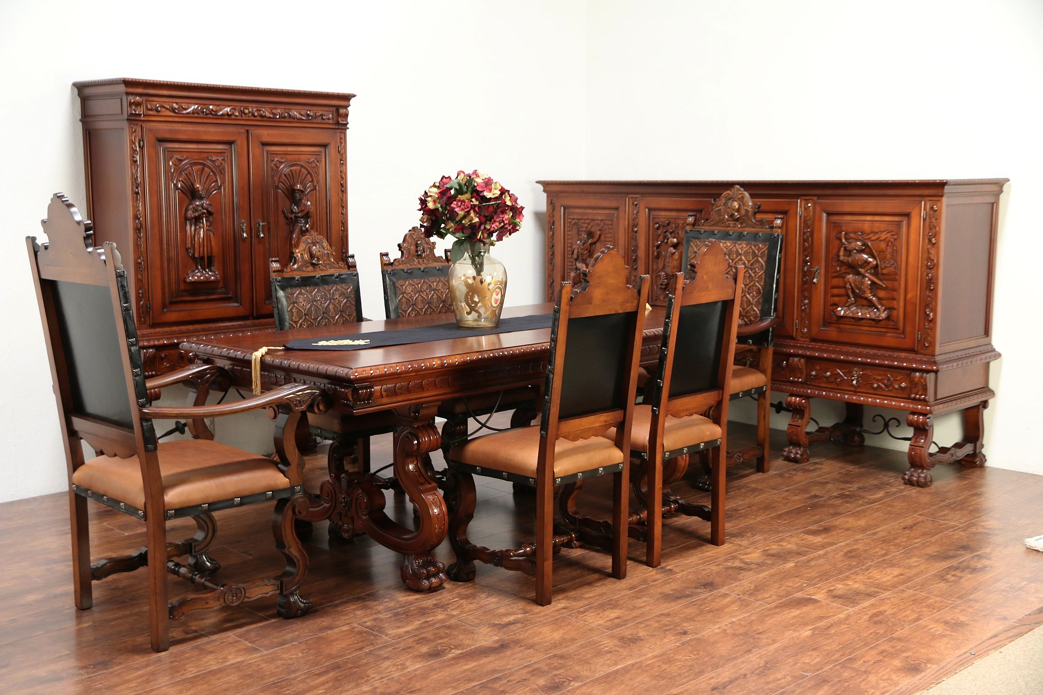 Spanish Colonial Carved Vintage Library