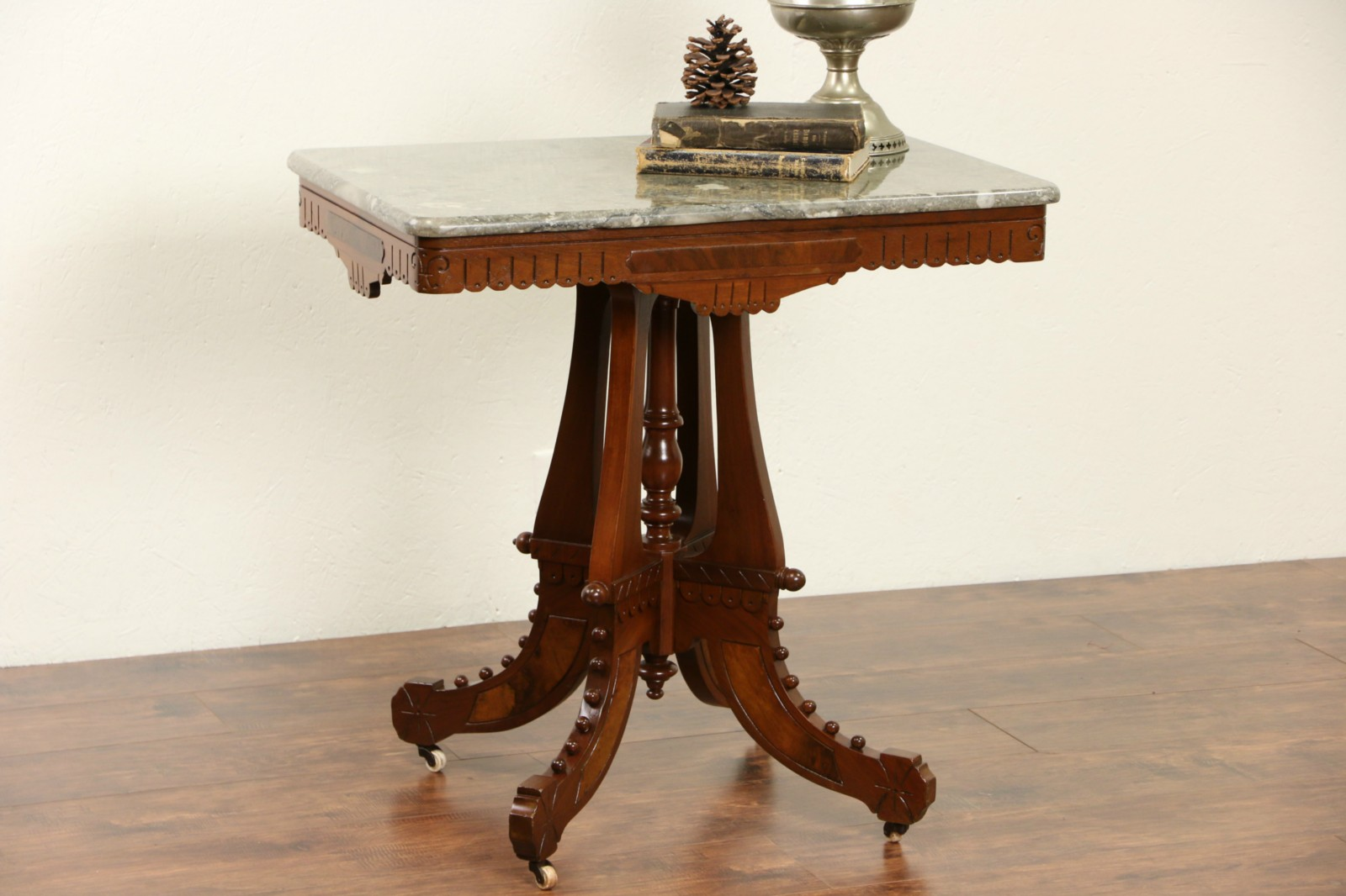 Sold Victorian Eastlake 1880 Antique Parlor Lamp Table