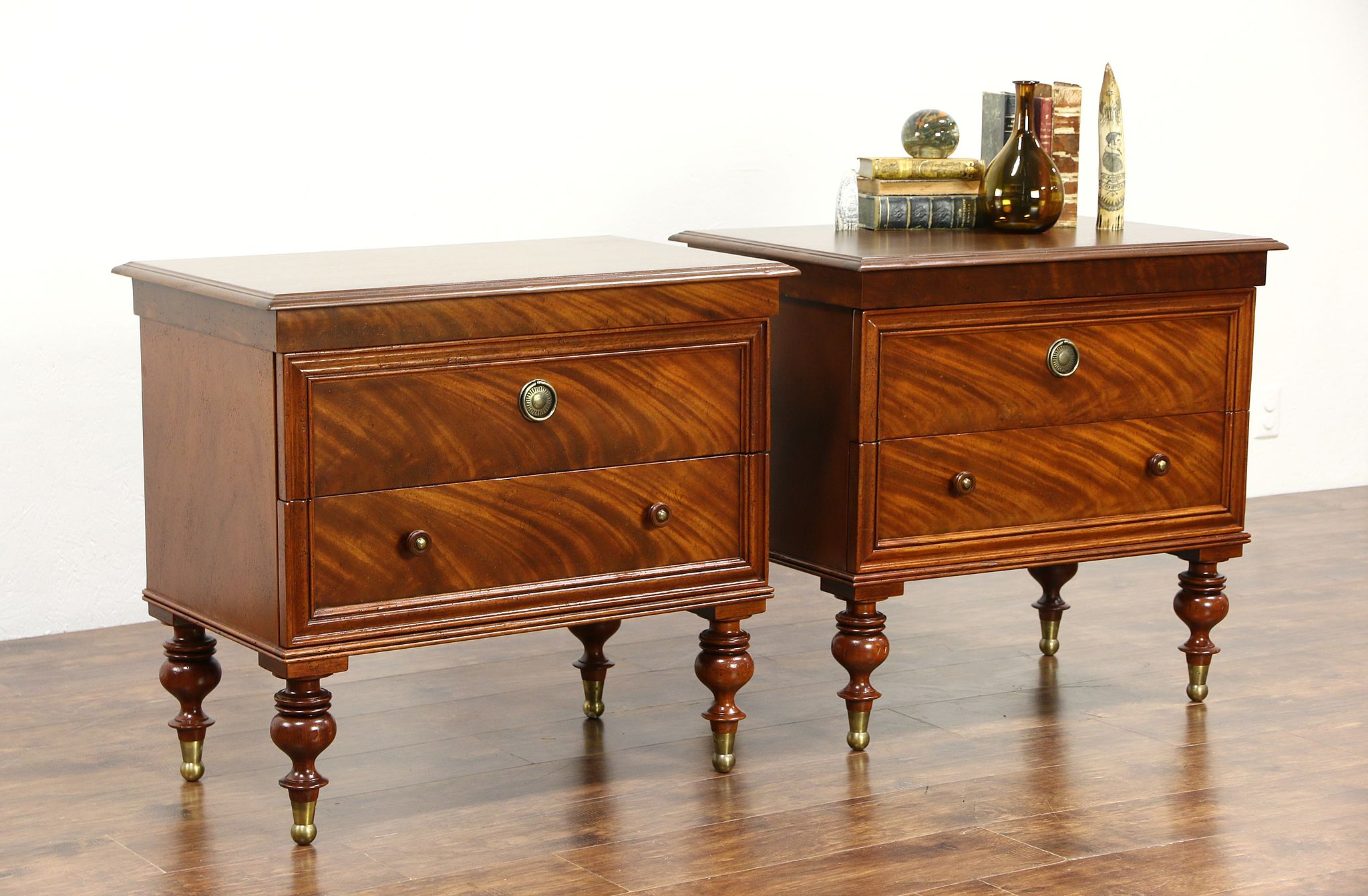 Pair Of End Tables Or Nightstands Milling Road By Baker West Ins Collection