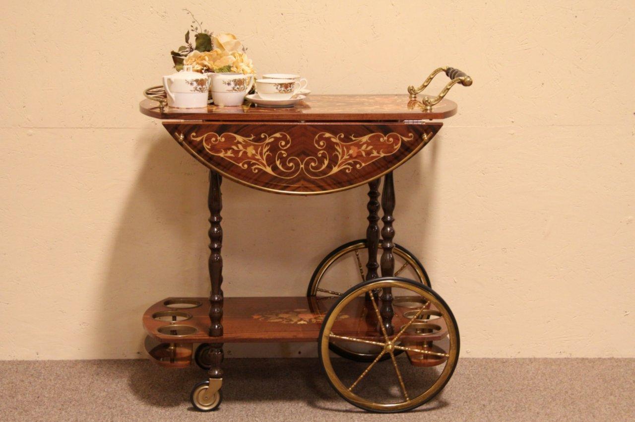 Sold Italian Marquetry Tea Beverage Or Dessert Cart