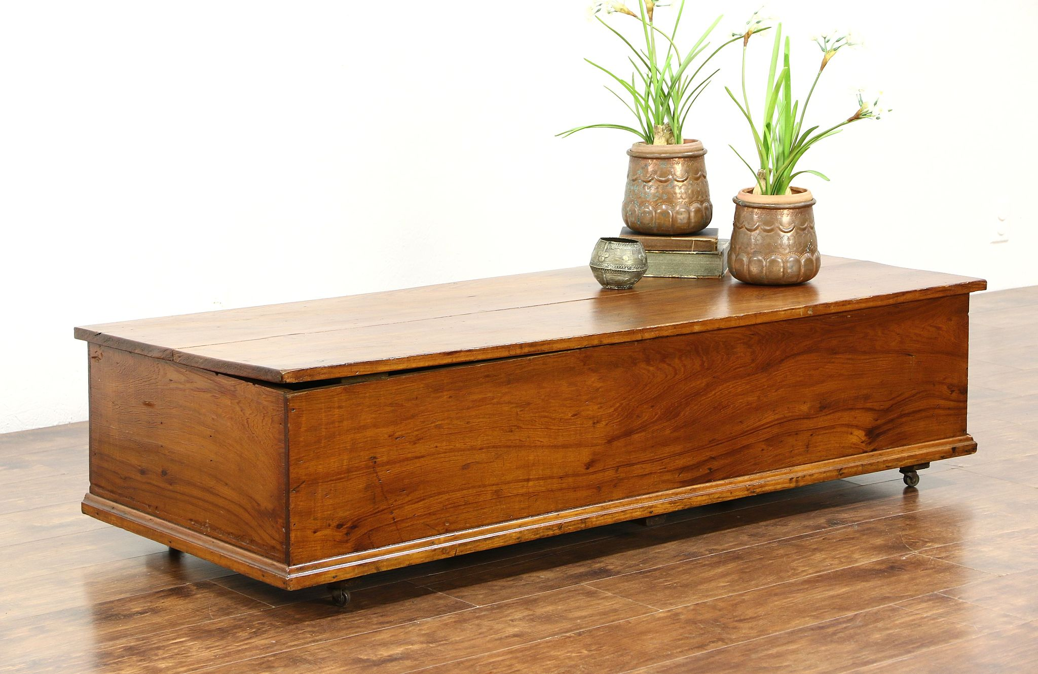 SOLD Coffee Table Trunk or Blanket Chest Antique 1910 Era
