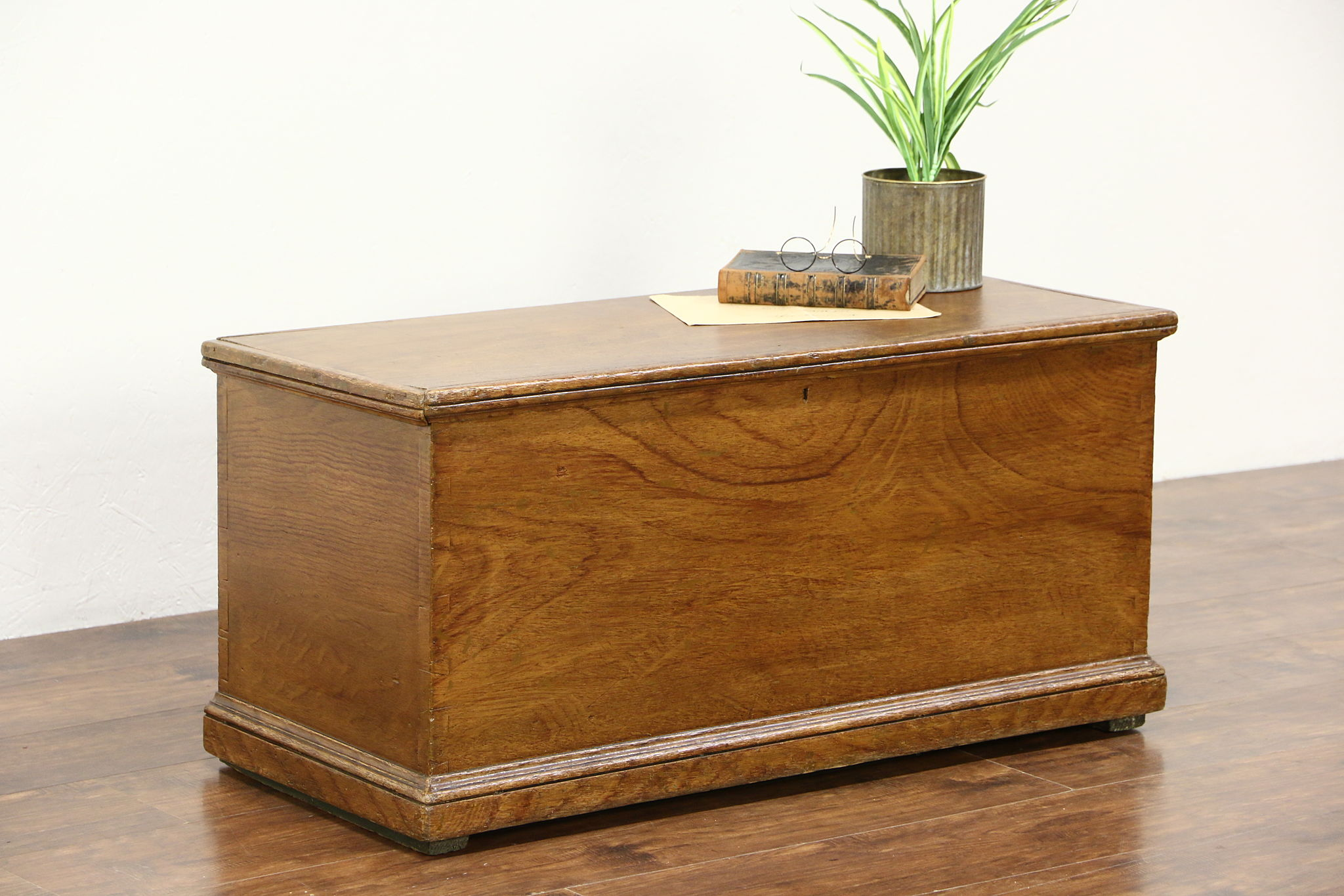 Trunk Blanket Chest or Coffee Table Grain Painted Pine 1850 s