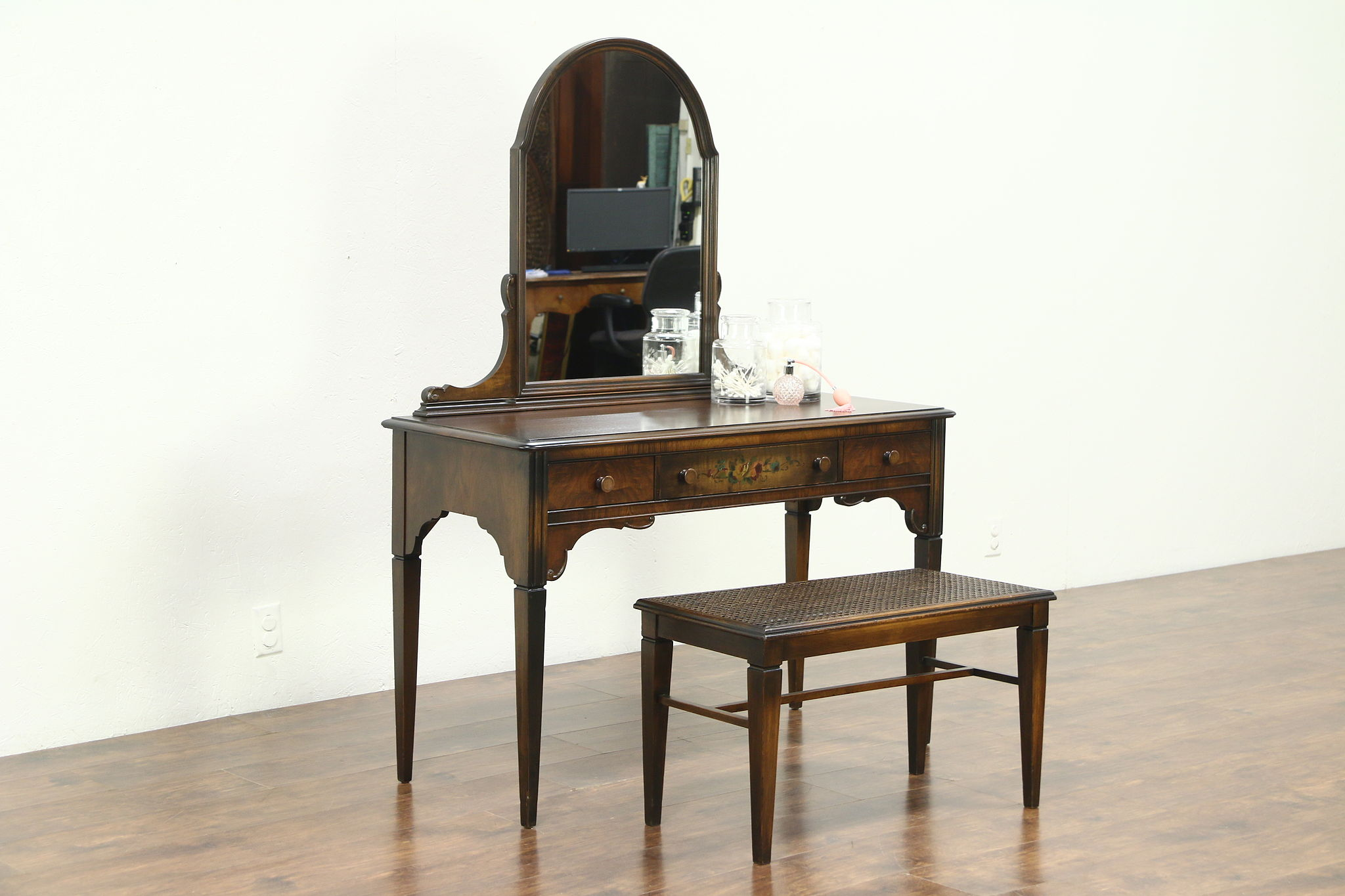 Sold Vanity Or Dressing Table Desk Amp Bench 1930 Vintage