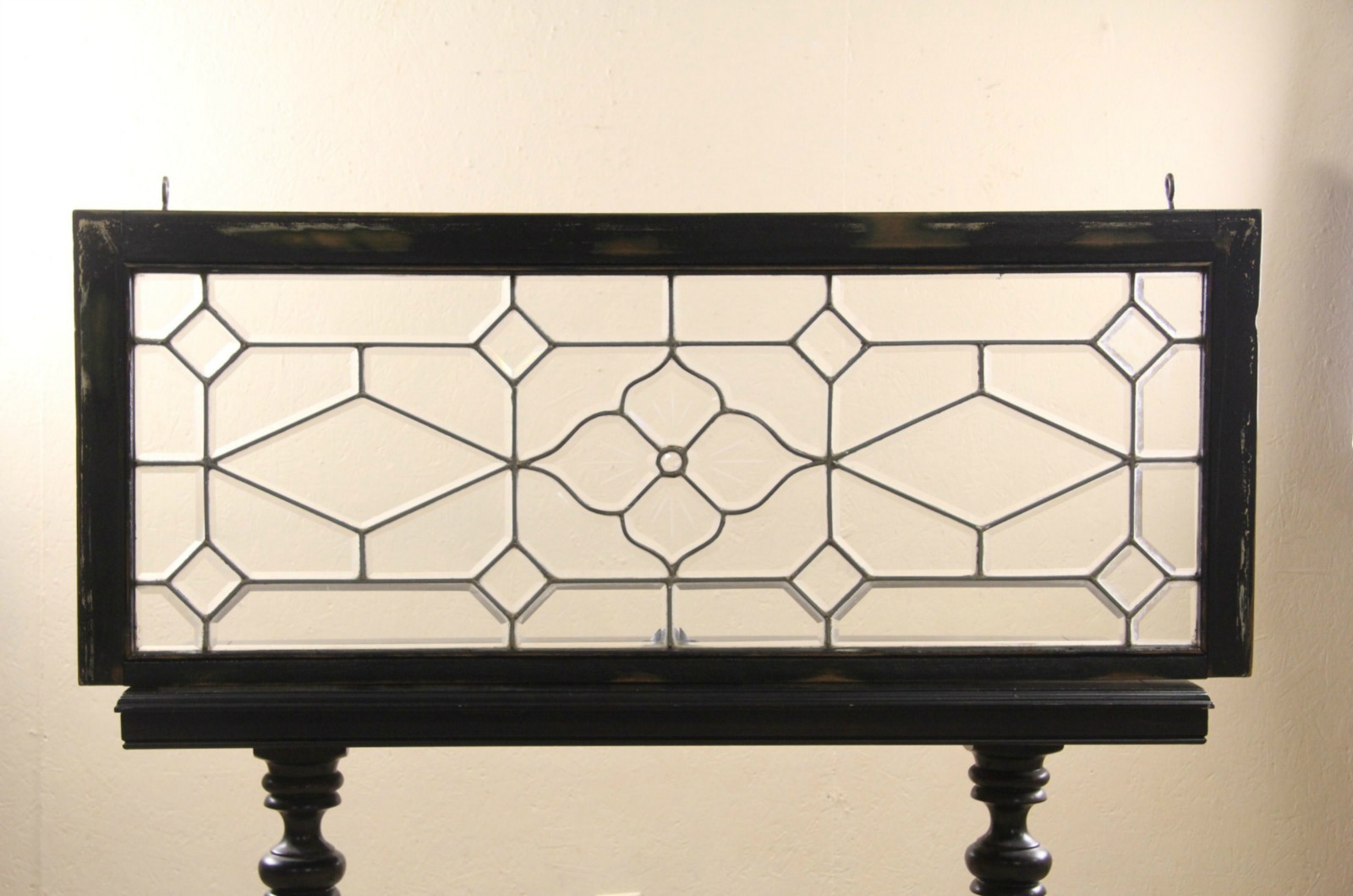 Sold Leaded Beveled Glass 1890 S Antique Architectural Salvage Window Original Frame Harp Gallery Antiques Furniture