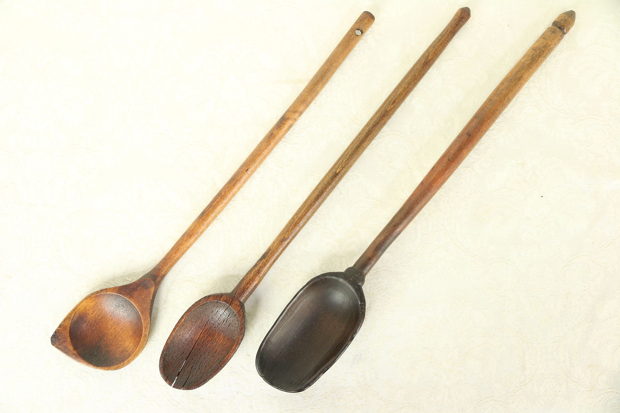 Vintage Hand Carved Wooden Spoon