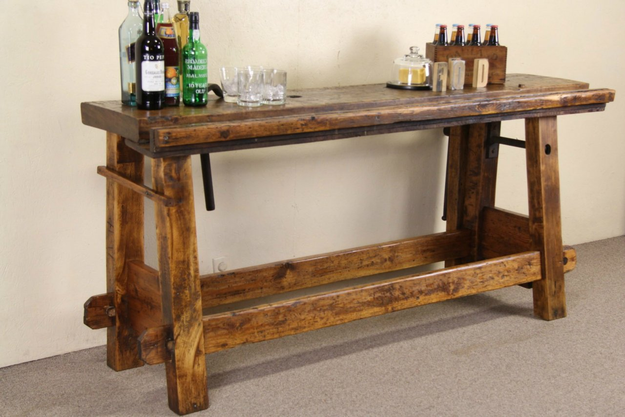 Super Primitive Antique Pine Workbench Wine Cheese Table Caraccident5 Cool Chair Designs And Ideas Caraccident5Info