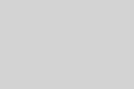 Brass Vintage 8 Candle Chandelier, Cut Crystal Prisms & Ball #31667